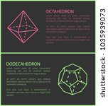 octahedron and dodecahedron set ... | Shutterstock .eps vector #1035939073