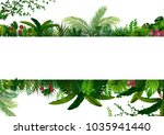tropical leaves background.... | Shutterstock .eps vector #1035941440