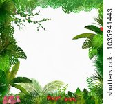 tropical jungle on white... | Shutterstock .eps vector #1035941443