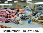 colorful wire harness for... | Shutterstock . vector #1035941509