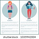 students poster with female... | Shutterstock .eps vector #1035942004