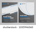brochure layout template  cover ... | Shutterstock .eps vector #1035946360