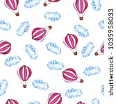 seamless pattern with pink hot... | Shutterstock . vector #1035958033