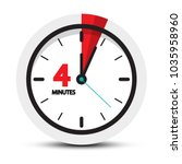 4 minutes clock icon. vector... | Shutterstock .eps vector #1035958960