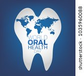 world oral health day logo icon ... | Shutterstock .eps vector #1035960088