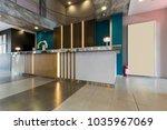 hotel reception area interior... | Shutterstock . vector #1035967069