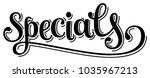 elegant word specials lettering ... | Shutterstock .eps vector #1035967213