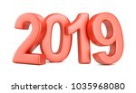 red 2019 symbol  represents the ...   Shutterstock . vector #1035968080