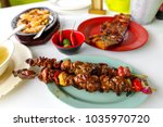 famous food in the philippines...   Shutterstock . vector #1035970720