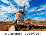 Traditional Windmill And Aloe...