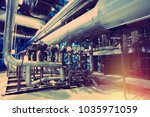 equipment  cables and piping as ... | Shutterstock . vector #1035971059