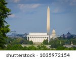 washington dc skyline with... | Shutterstock . vector #1035972154