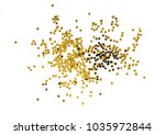 pile of gold star decoration... | Shutterstock . vector #1035972844
