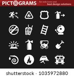 fire brigade vector icons for... | Shutterstock .eps vector #1035972880