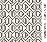 vector seamless lattice pattern.... | Shutterstock .eps vector #1035977539