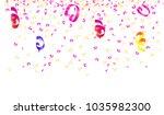 bright multicolored confetti... | Shutterstock . vector #1035982300
