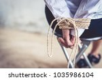 close up of woman hands with... | Shutterstock . vector #1035986104