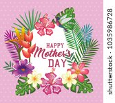 happy mothers day card with...   Shutterstock .eps vector #1035986728