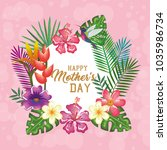 happy mothers day card with...   Shutterstock .eps vector #1035986734