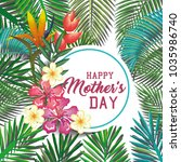 happy mothers day card with...   Shutterstock .eps vector #1035986740