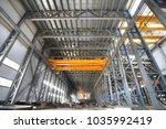 modern high tech factory... | Shutterstock . vector #1035992419