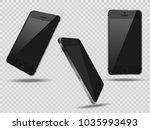 realistic set mobiles... | Shutterstock .eps vector #1035993493