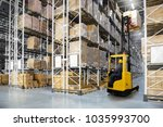 huge distribution warehouse... | Shutterstock . vector #1035993700