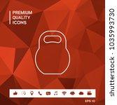 kettlebell line icon | Shutterstock .eps vector #1035993730