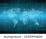 binary circuit board future... | Shutterstock .eps vector #1035994600