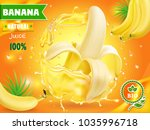 banana juice advertising with... | Shutterstock .eps vector #1035996718