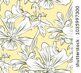 vector seamless pattern with... | Shutterstock .eps vector #1035997300