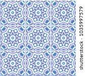 set of 9 patterned floor tiles. ... | Shutterstock .eps vector #1035997579