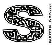 letter of the english alphabet... | Shutterstock .eps vector #1035998284