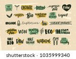 collection of healthy organic...   Shutterstock .eps vector #1035999340