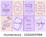 wedding invitation card suite... | Shutterstock .eps vector #1036005988