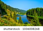 forest river panoramic landscape | Shutterstock . vector #1036008268