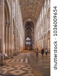 Small photo of Ely, Cambridgeshire, UK - August 19, 2017: Inside view of Ely Cathedral, looking towards an alter.