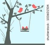 vector bird card | Shutterstock .eps vector #103601504