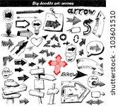 doodle arrow set | Shutterstock .eps vector #103601510