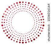 red round frame. white... | Shutterstock .eps vector #1036016164