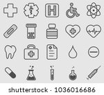healthcare professional icons... | Shutterstock .eps vector #1036016686