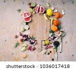 healthy eating background ...   Shutterstock . vector #1036017418