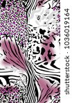 leopard and zebra pattern.for... | Shutterstock . vector #1036019164