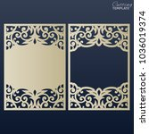 paper greeting card with lace... | Shutterstock .eps vector #1036019374