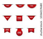 free advertising badges | Shutterstock . vector #1036019680