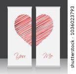 roll up business banner design | Shutterstock . vector #1036023793