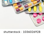 close up of multicolor capsules ...   Shutterstock . vector #1036026928