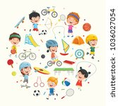 vector illustration collection... | Shutterstock .eps vector #1036027054