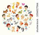vector illustration collection... | Shutterstock .eps vector #1036027066
