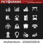 industry vector white icons for ...